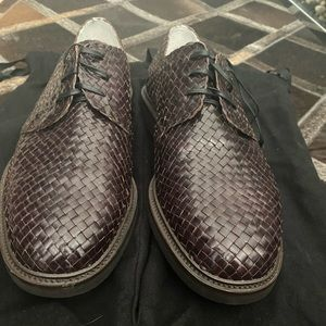 Dolce & Gabbana Men's woven lace up shoes/brown/9